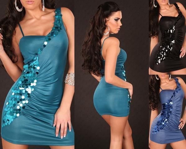 robe courte avec paillette
