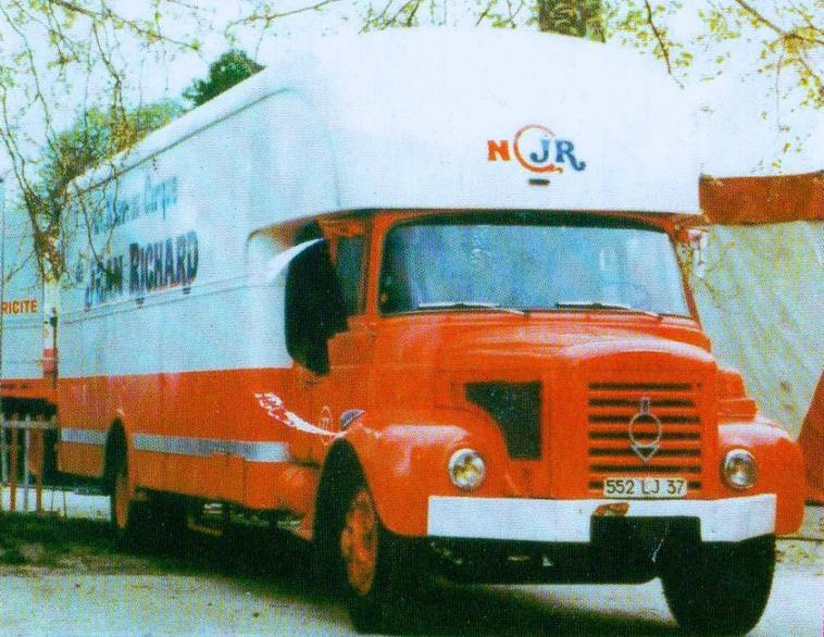 BERLIET GLR8 fourgon avec capucine PINDER Jean Richard