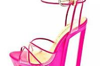 chaussure rose fluo