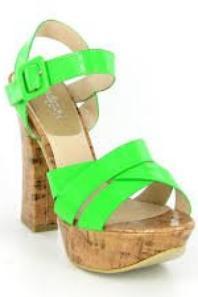 chaussure vert fluo