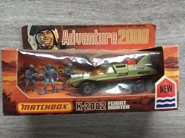 rentrée de boites adventure 2000 de matchbox