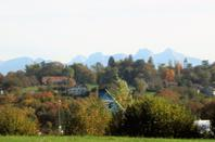 Les Alpes...le Mont Blanc et les oiseaux métalliques....