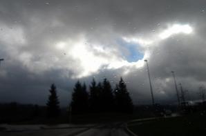 Sur le beau arc-en-ciel....le départ....