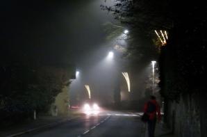 La ville ...soir et le brouillard...