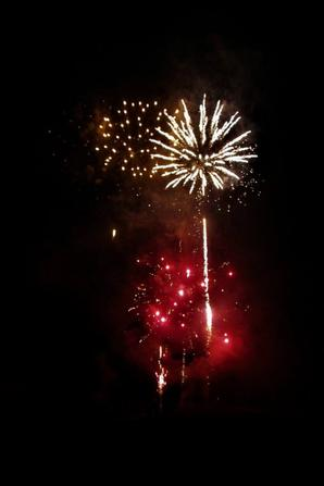 Un feu d'artifice superbe se soir....