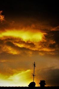 Ciel du soir...ma ville...