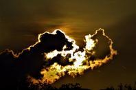 Couché du Soleil...Jura et le ciel doré...