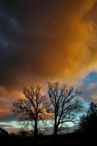 Couché du Soleil et le ciel du Jura....