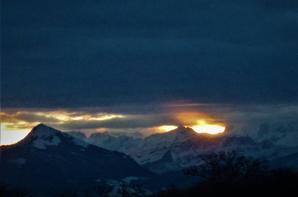 Dimanche matin ....la vue sur les Alpes...