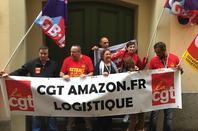 Manifestation devant le siège d'Amazon à Luxembourg