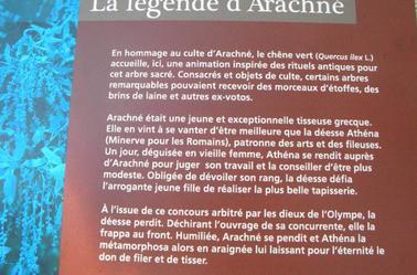 """""""La légende d'Arachné""""...C'est a Balaruc les Bains !"""