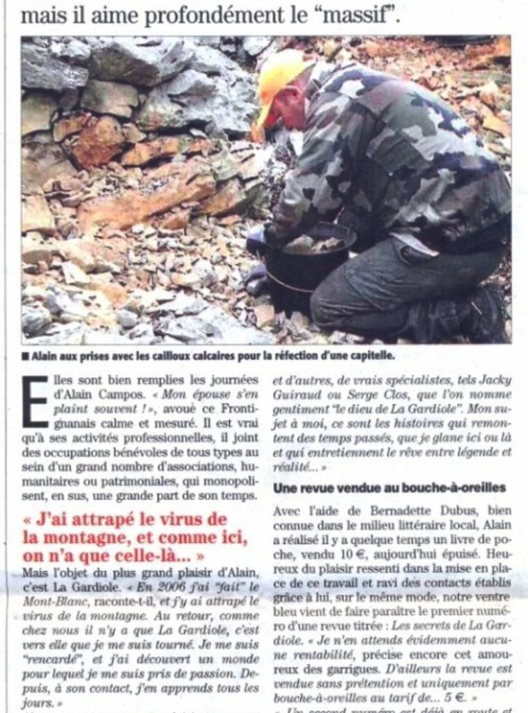 """"""" Les Secrets de la Gardiole"""""""