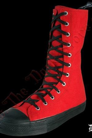 SNEAKERS HAUTES DEMONIA DEVIANT-201 ROUGES