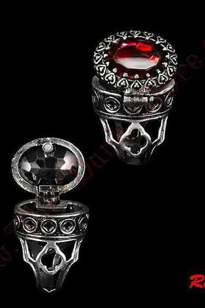 Bague 'POISON RED'