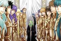 tout les chevaliers d'or mais plus aphrodite