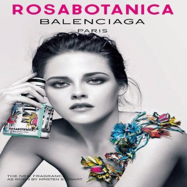 Kristen Stewart  pour Rosabotanica de Balenciaga Nouveaux parfum!