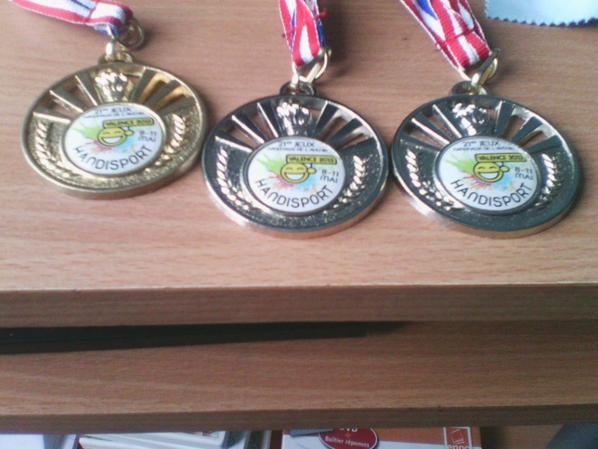 Mes résultats au Jeux Nationaux de l'Avenir Handisport 2013