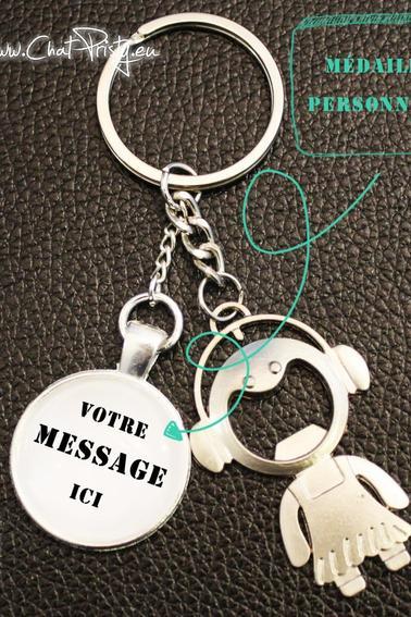 Porte-clé décapsuleur à personnaliser avec votre propre message
