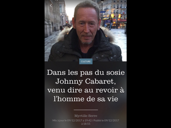 Le Figaro . Johnny Cabaret. Paris. 09/12/2017