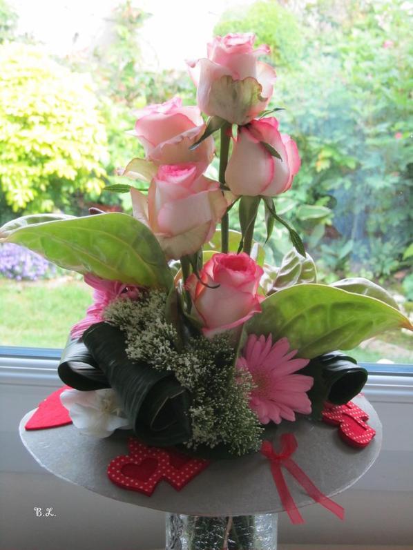 Bouquet à la main pour la Fête des Mères