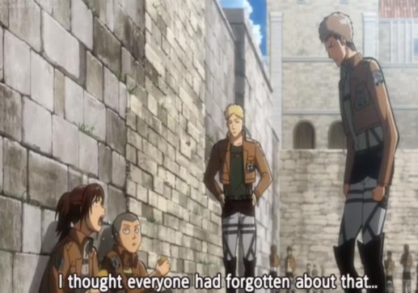No Sasha, we don't forget it