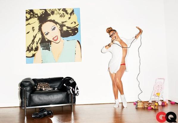 Beyonce pose pour GQ.