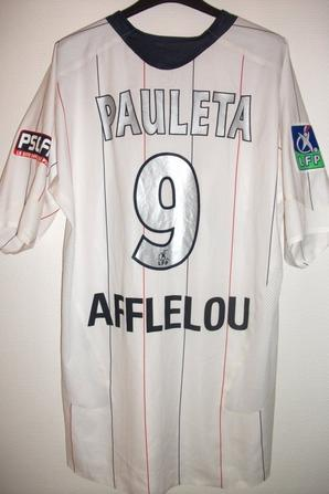 MAILLOT PSG PORTE PAR PAULETA   (NICE-PSG) MAI 2007