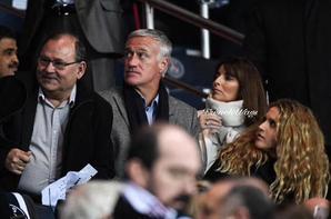 Claude & Didier Deschamps lors de PSG -FC Barcelone