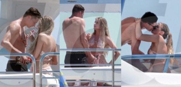 Julian Draxler et Linda Vaterl (?) à Ibiza