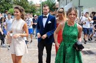 Camille & Morgan Schneiderlin lors du mariage de Francesca & Matteo Darmian en Italie