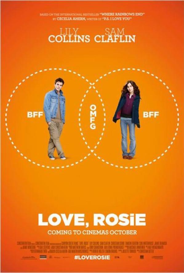"""Un petit passage pour mettre un teaser du Film """"Love, Rosie"""" est deux nouveaux stilles, avec une nouvelle affiche"""