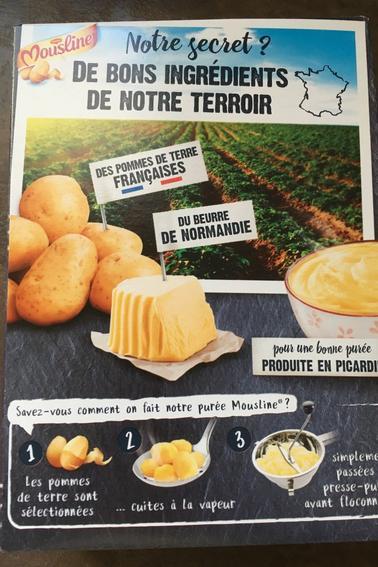 Test purée Mousline au beurre de Normandie