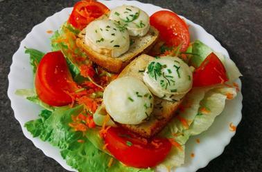 Salade de chèvre chaud.