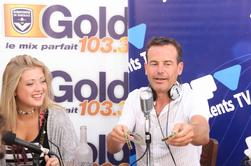 Aurore Kimberley le 30 juillet 2014 à Arcachon Journée Jeunes Talents TV avec La Radio Gold