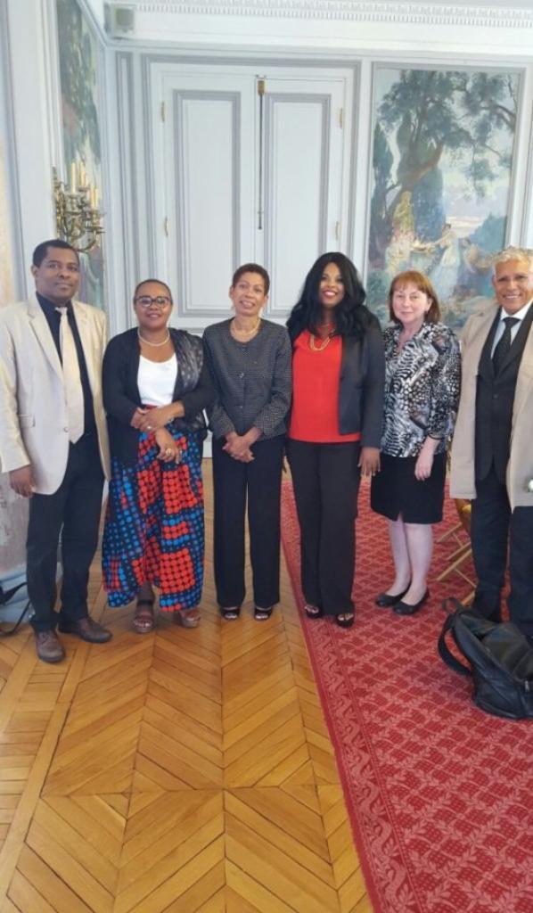 La Ministre française d'Outre-Mer, Mme George Pau-Langevin, reçoit une délégation du CSDM
