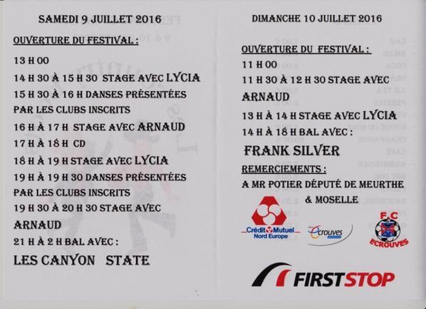 festival 9 &10 juillet 2016