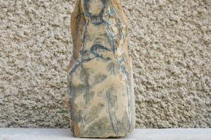 C½ur de Marie en pierre dorée vendu