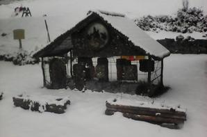 Nouvelle neige au refuge