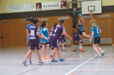 Reprise matchs 14h00,  moins 16 Filles HBCDigoin / Allemagne.