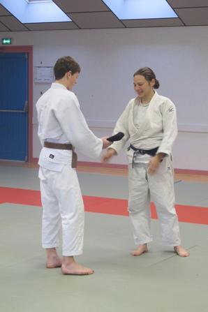 championnat départemental cadets + 1er dan Maël