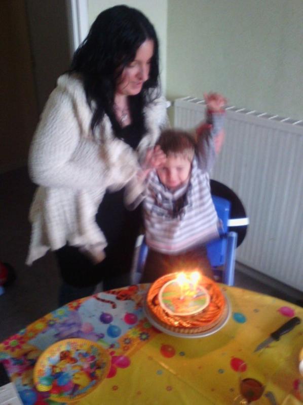 moi et mon fils pour mon anniversaire