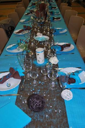 Decoration De Table Bleu Et Chocolat Creations En Tout Genre