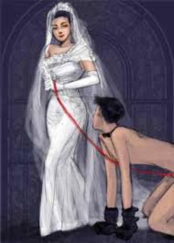 un contrat de mariage tres particiler :)