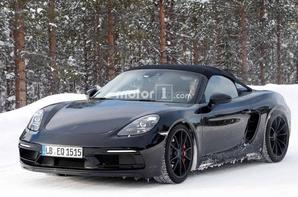 Photos espion - La Porsche 718 Boxster Spyder de nouveau surpris