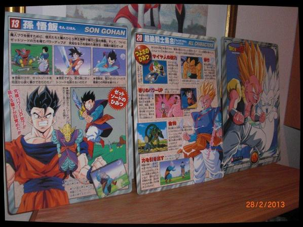 Dragon Ball Z, Carte carton