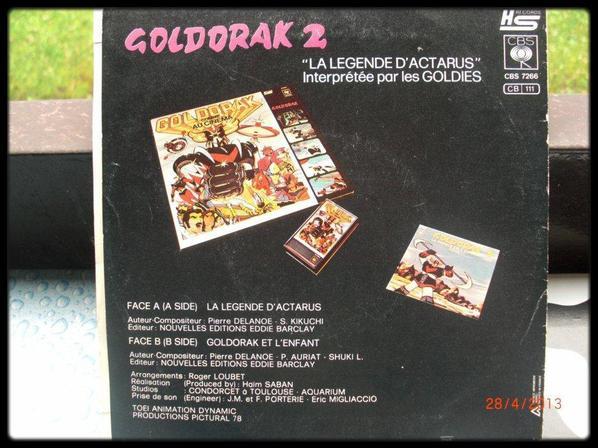 45T, Goldorak 2, la legende d'actarus, (interprété par les Goldies), 1979