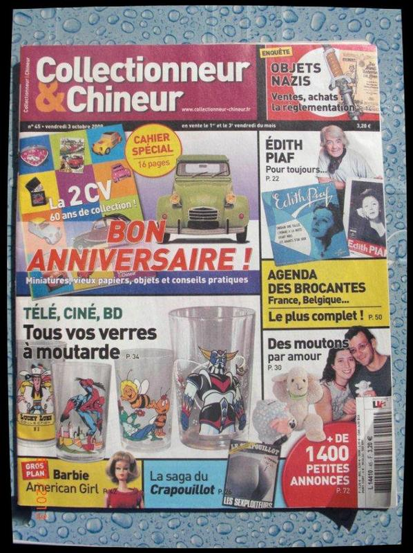 Magazine, Collectionneur et Chineur No 45 du 3 octobre 2008 (goldorak)