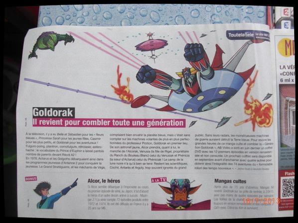 Goldorak, TV Avantages - Article No 4 Cadeau de mon ami (actarusgo)