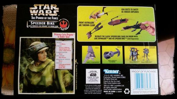 Star Wars, Speeder Bike avec figurine de Princess Leia