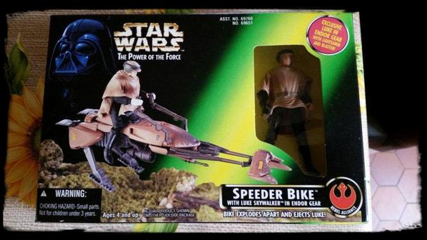 Star Wars, Speeder Bike avec figurine de Luke